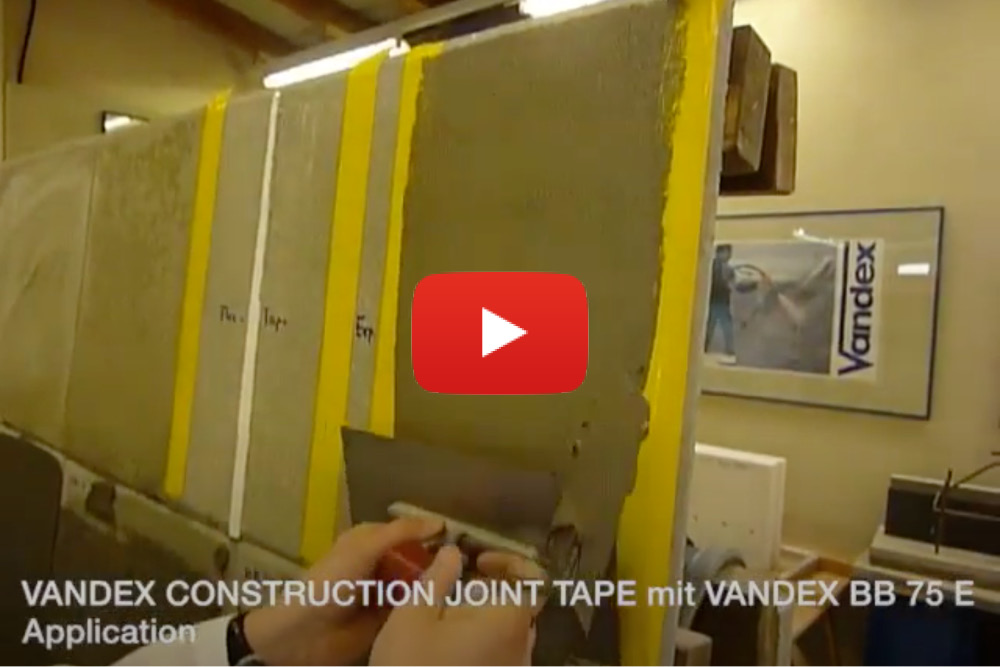 VANDEX CONSTRUCTION JOINT TAPE